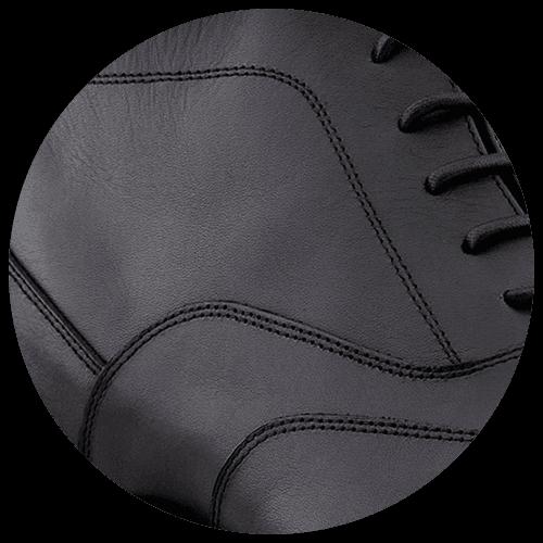 detail black true leather shoes - Guidomaggi Switzerland