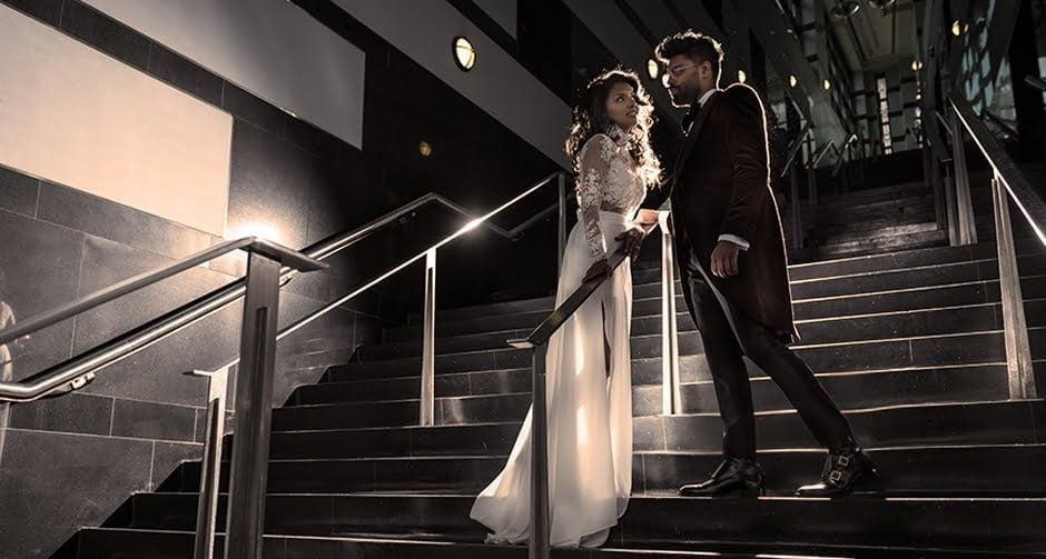 bride and groom wearing elevator shoes - Guidomaggi Switzerland