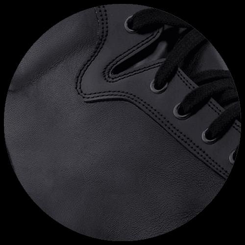 detail black leather sneakers - Guidomaggi Switzerland