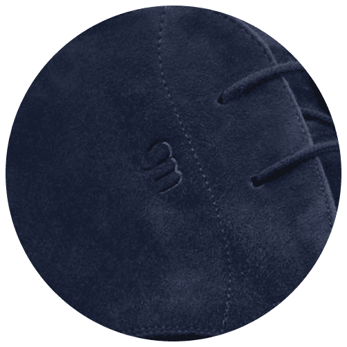 shoes detail suede leather blue - Guidomaggi Switzerland
