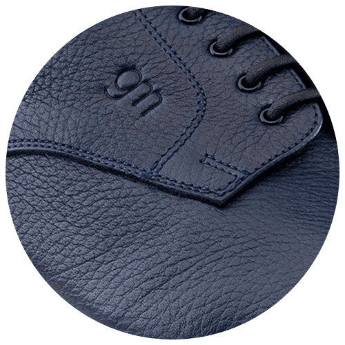 shoes detail blue leather texture - Guidomaggi Switzerland