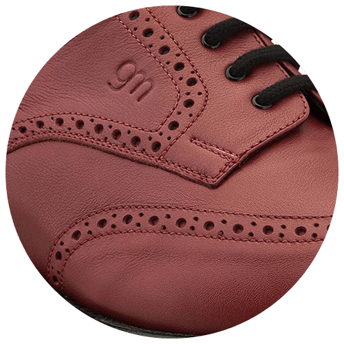 detail red textured leather shoe - Guidomaggi Switzerland