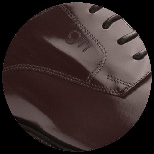 detail platina red brown shoe - Guidomaggi Switzerland