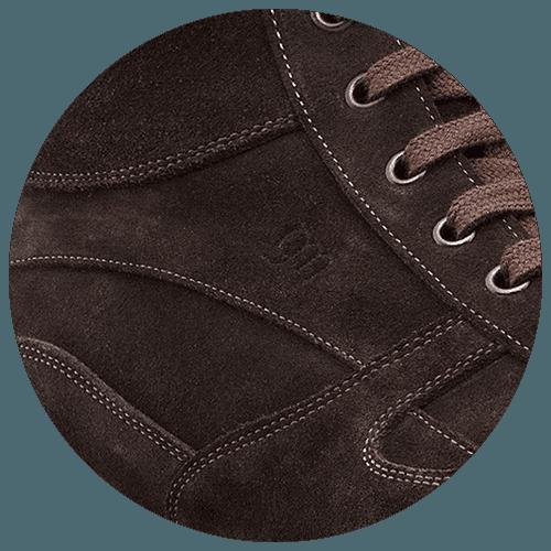 detsil suede deep brown shoe - Guidomaggi Switzerland
