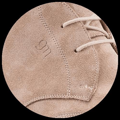 detail dove grey shoe - Guidomaggi Switzerland