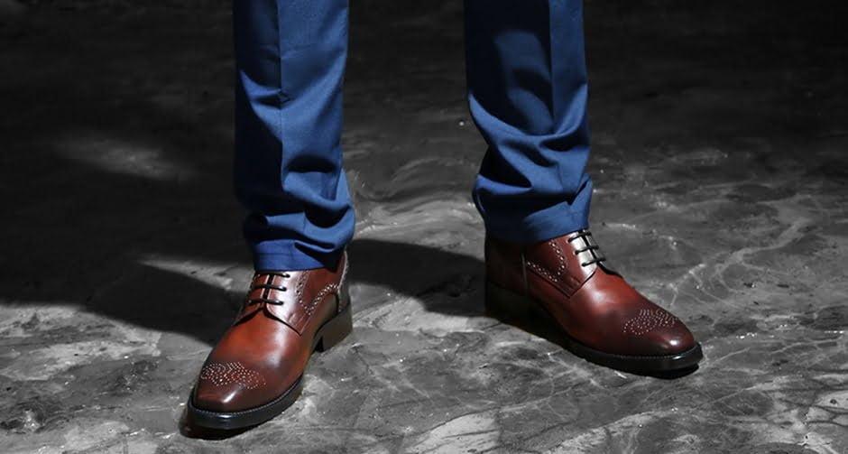 brown elengant brogue shoes - Guidomaggi Switzerland