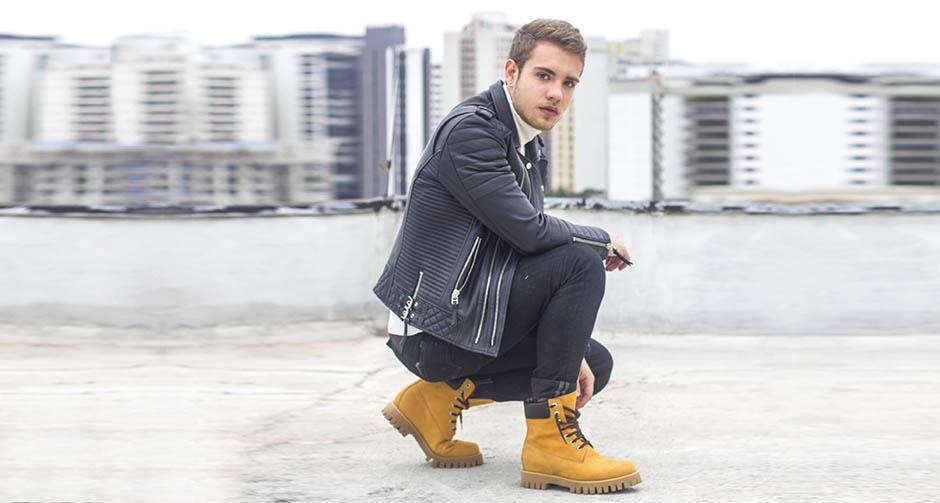 man wearing mustard boots - Guidomaggi Switzerland