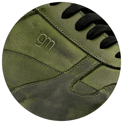 shoes detail color burnished green - Guidomaggi Switzerland