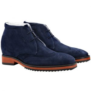 blue suede ankle boots 1