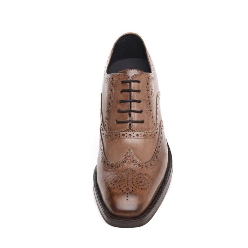 medium brown brogue classic dress shoes 2