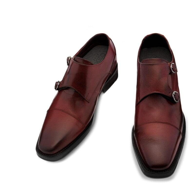 Chaussures de Ville en cuir pleine fleur bordeaux 2