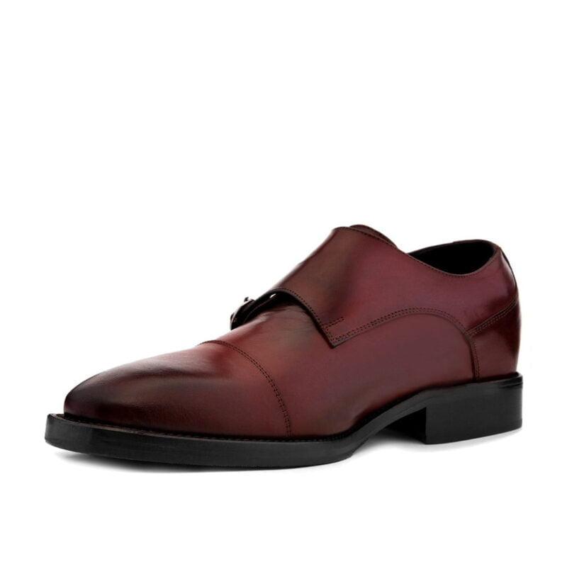Chaussures de Ville en cuir pleine fleur bordeaux 3