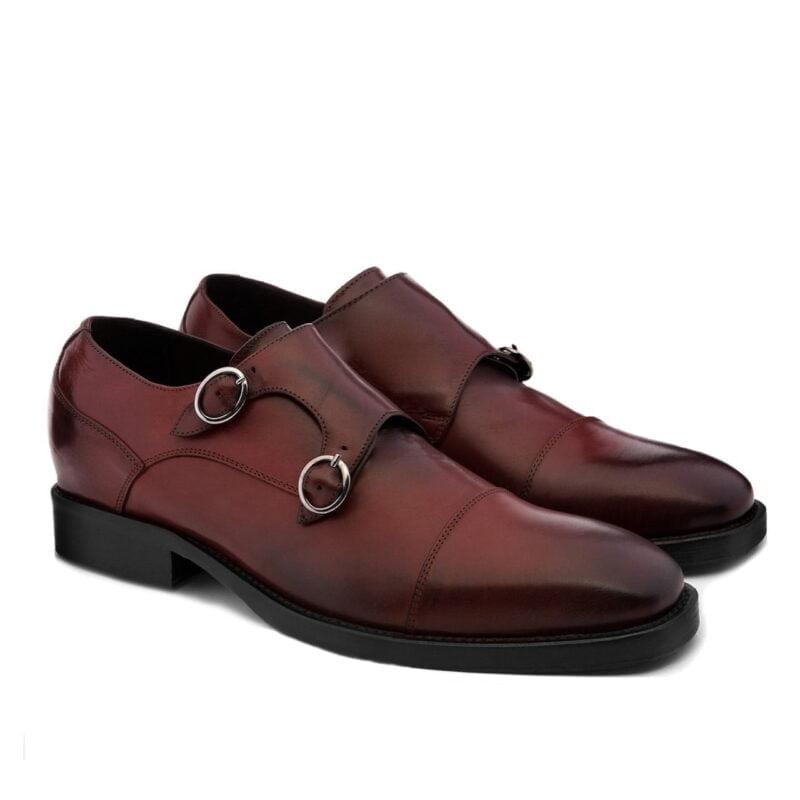 Chaussures de Ville en cuir pleine fleur bordeaux 5