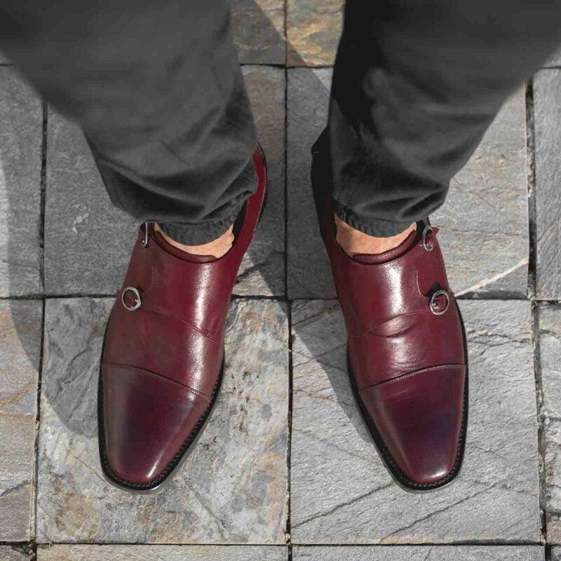 Chaussures de Ville en cuir pleine fleur bordeaux 6