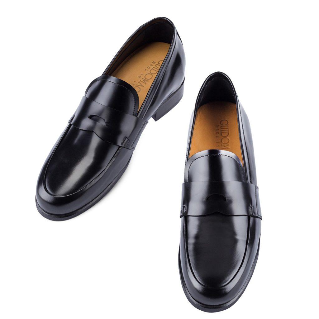 classic elegant black fullstrap loafers 4