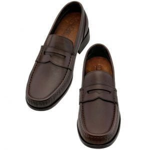 dark brown leather opera loafers 4