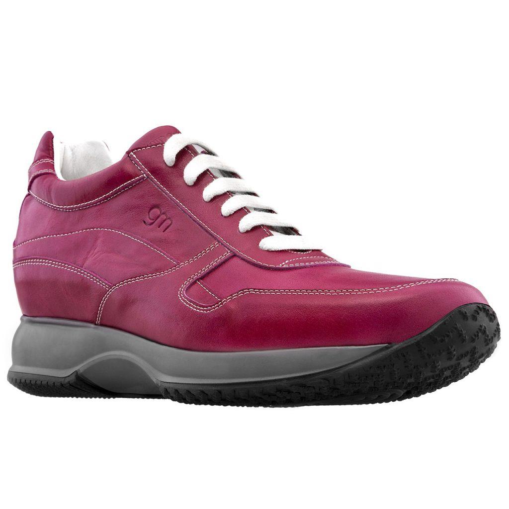 fucsia leather woman shoes - Guidomaggi Switzerland