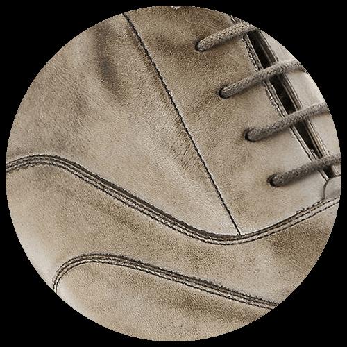 detail brown light leather shoe - Guidomaggi Switzerland