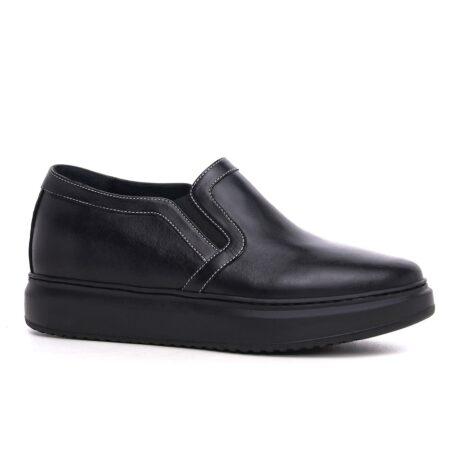 Total black slip-ons shoes 1