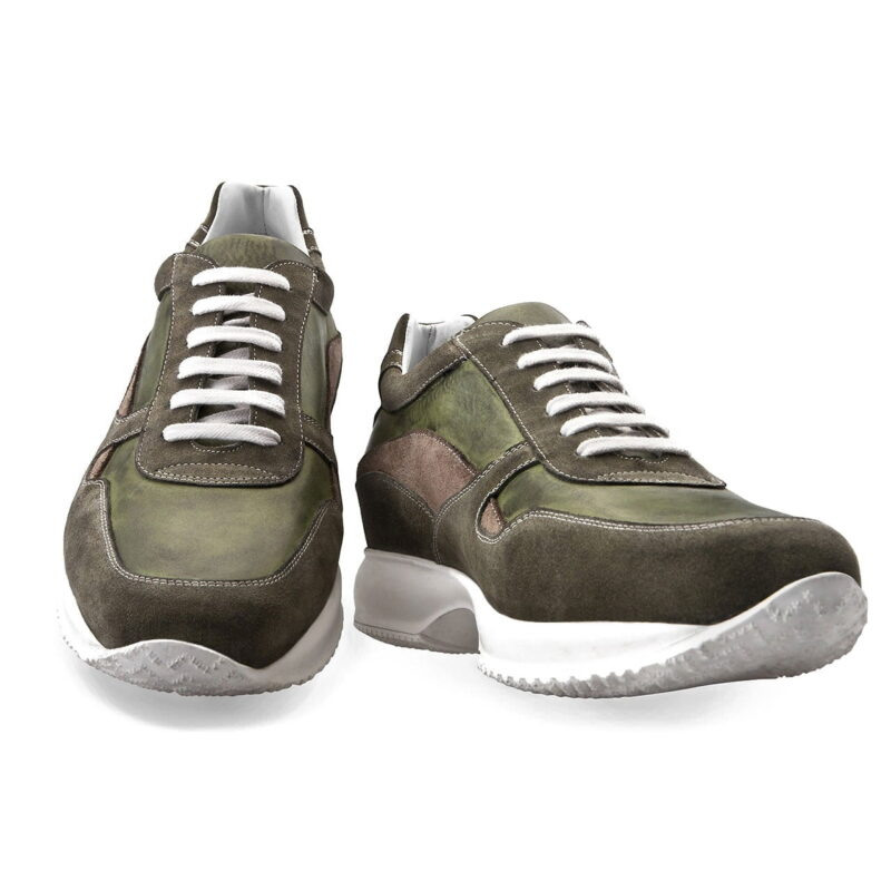 Sneakers mit Absatz Handgefertigte aus Italien 5