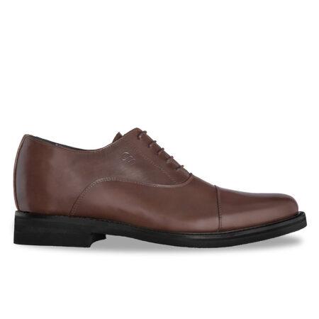 Herren-Oxford aus braunem Leder