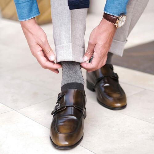 Guidomaggi handgefertigte luxus-schuhe patina